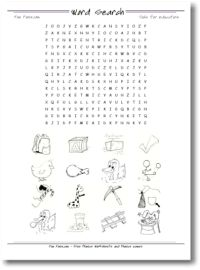 Free Phonics Word Seach Maker, phonics worksheets, templates, phonics games to print with images, customizable word search to print