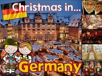 Froehliche Weihnachten! Travel with your students to Germany for Christmas with this Christmas Around the World PowerPoint featuring Christmas traditions in Germany! This PowerPoint is a great addition to your Christmas Around the World celebration!