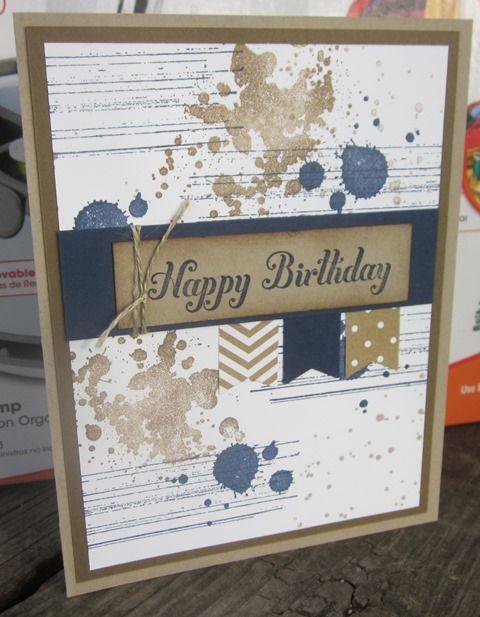 männliche Geburtstagskarte / male birthday card - used Gorgeous Grunge - Stampin Up
