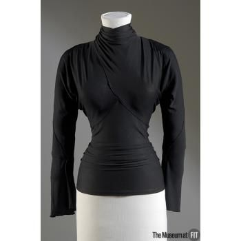 The Museum at FIT - Online Collections Black Silk Jersey Blouse 1937