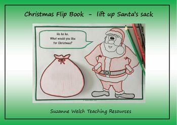 Christmas - Santa Flip Book - drawing/writing task