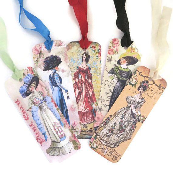 Bookmark Victorian ladies Vintage Retro Paper by EnchantedQuilling