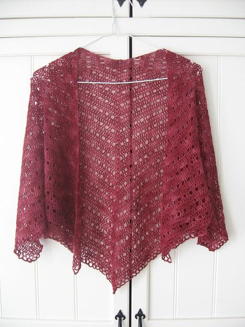 crocheted shawl