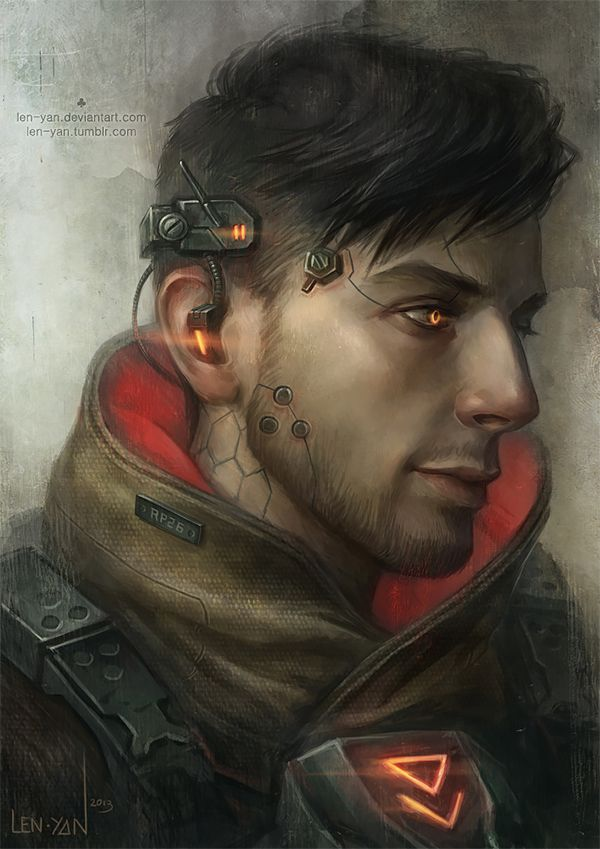 Cyberpunk, Illustrations by Magdalena Pagowska || It wasn't supposed to be, but he reminds me of Mitch.