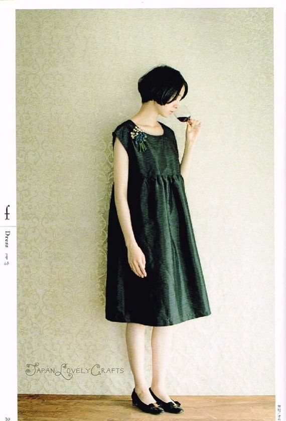 Make as tunic---Formal & Little Black Dress Yoshiko Tsukiori by JapanLovelyCrafts