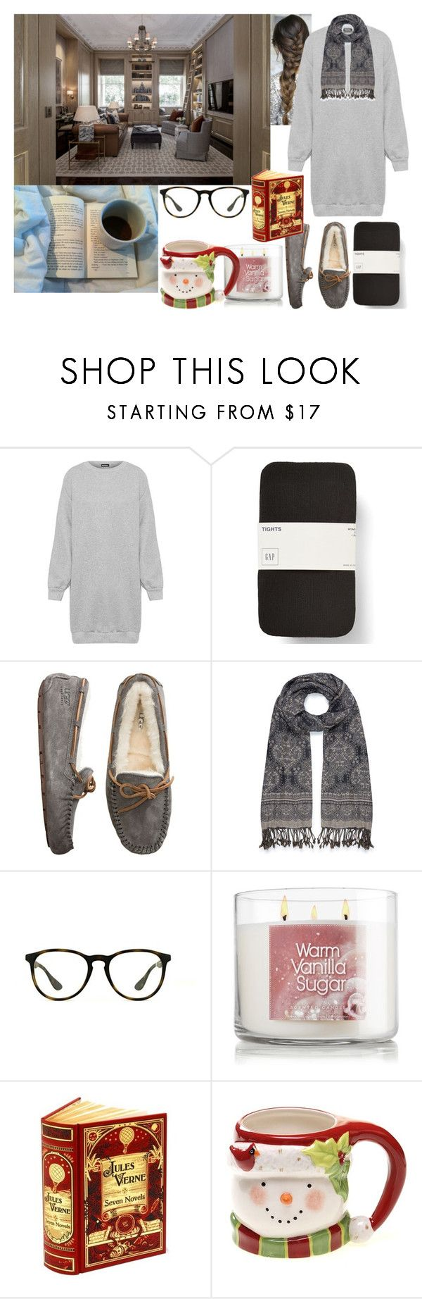 """Spending the rainy morning reading inside"" by catherineofwales ❤ liked on Polyvore featuring Sugoi, WearAll, UGG Australia, Accessorize, Ray-Ban, CO, 7 For All Mankind and Certified International"