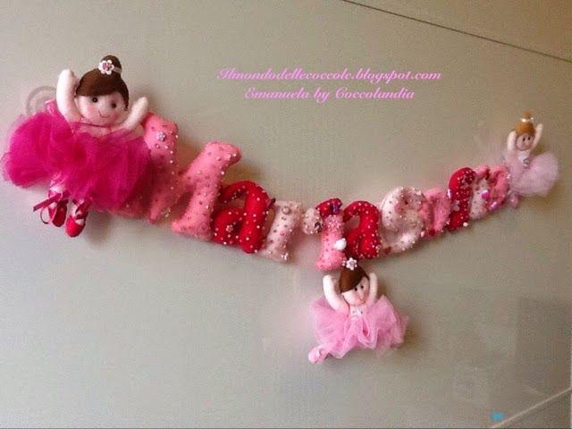 Banner per MariaSofia ❤️❤️❤️ in feltro, pannolenci, tessuto, handmade.  Realizzata interamente a mano senza l'ausilio di macchina da cucire.