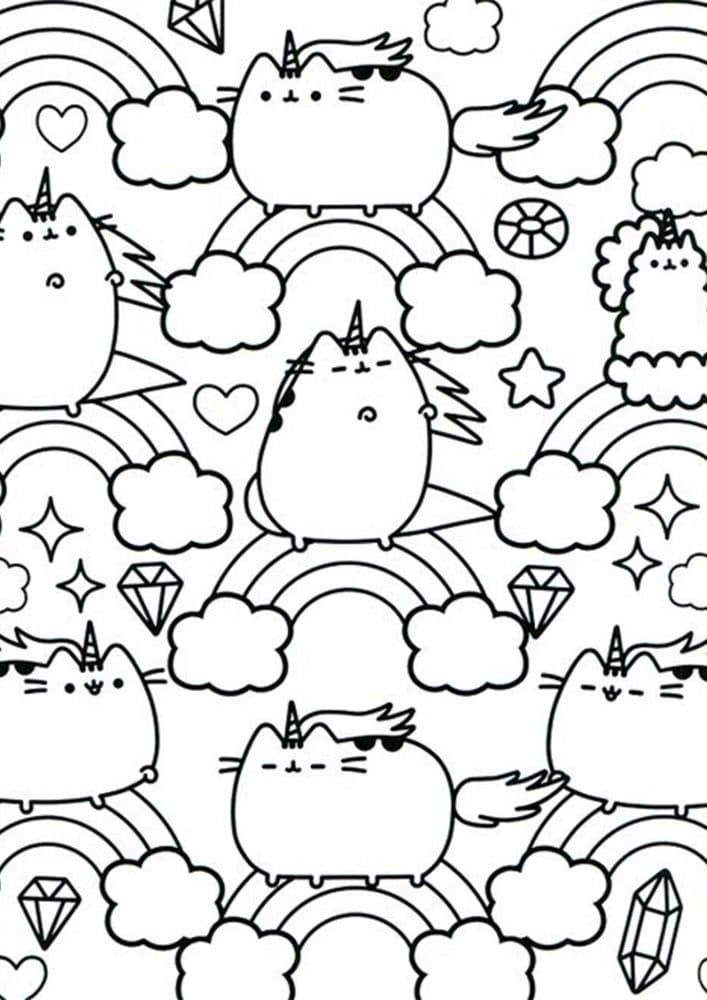 - Free & Easy To Print Pusheen Coloring Pages In 2020 Unicorn Coloring  Pages, Cat Coloring Page, Cat Coloring Book