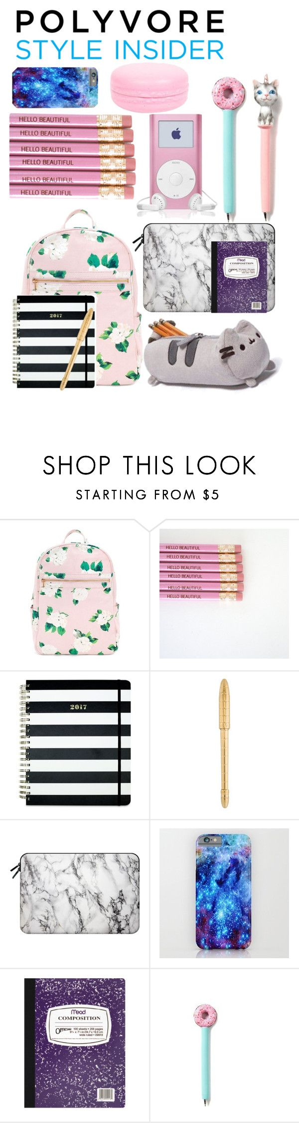 """""""Treat Yourself Sweet Back-To-School Supplies! """" by piscesgal0xy004 ❤ liked on Polyvore featuring Pusheen, Kate Spade, Louis Vuitton, Casetify, Mead, backpacks, contestentry and PVStyleInsiderContest"""