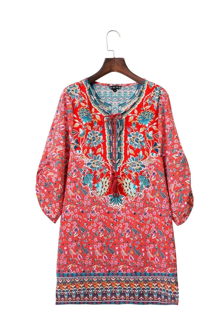 $32.90 - Banara Ethnic Dress is Available at Pasaboho ( Free Shipping Worldwide ) Fashion trend and styles from hippie chic, modern vintage, gypsy style, boho chic, hmong ethnic, street style, geometric and floral outfits. We Love boho style and embroidery stitches. Hippie girls with free spirit sharing woman outfit ideas and bohemian clothes, cute dresses and skirts.