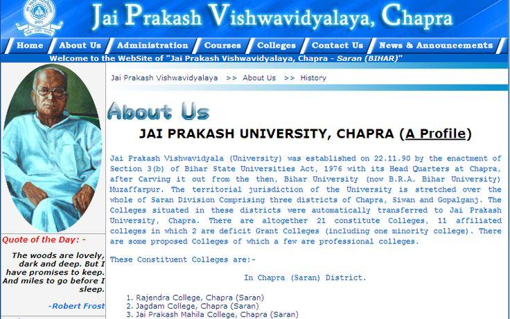 JPV (Jai Prakash University) is a state university, situated in Chhapra, Bihar, India.