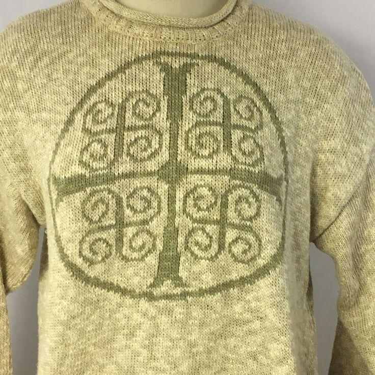 Aran Sweater Market Womens Size Medium Khaki Long Sleeve  #AranSweaterMarket #Sweater