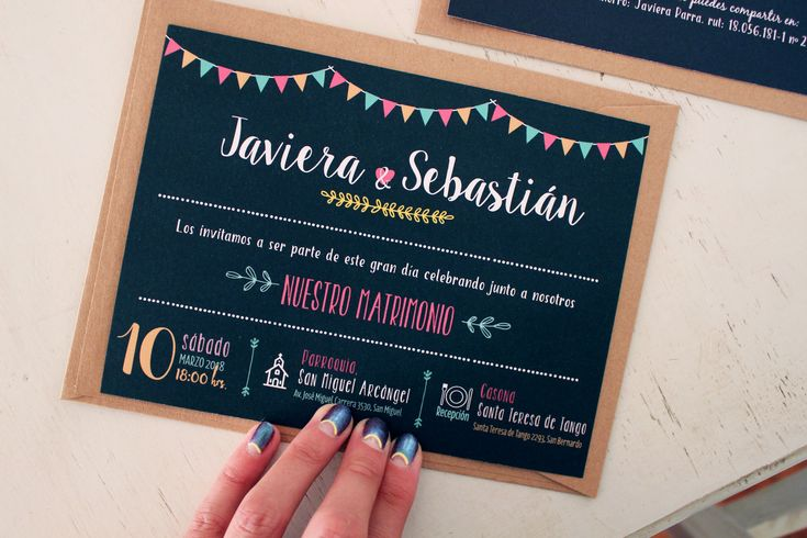Invitaciones de matrimonio Tarjetas de boda, tarjetas de matrimonio. Invitaciones boda · Valentina Javiera Diseño