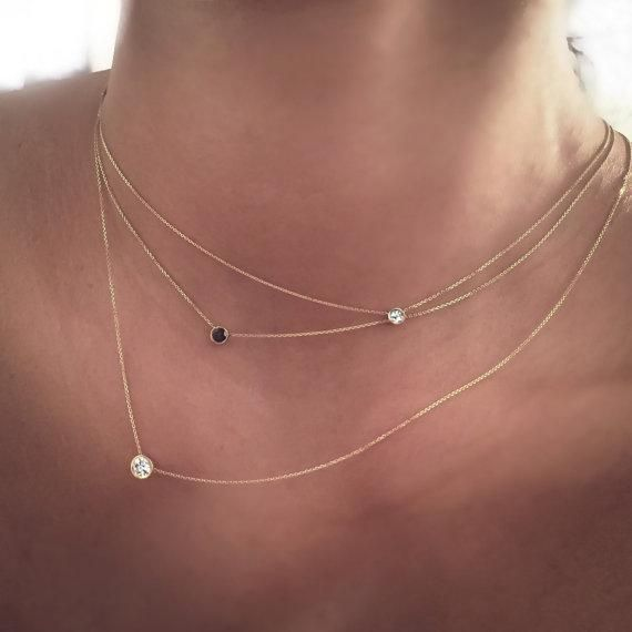 Delicate jewelry for long, skinny neck.