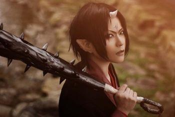 awesome Hoozuki cosplay