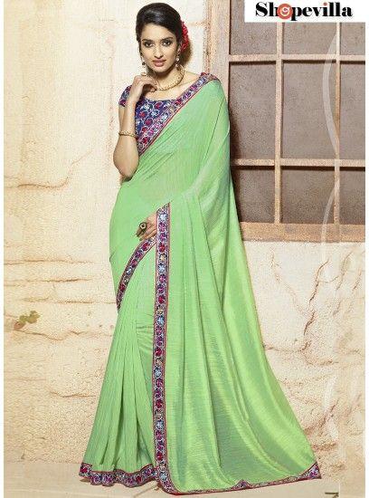Fancy Sea Green Viscose Casual Wear Saree-316