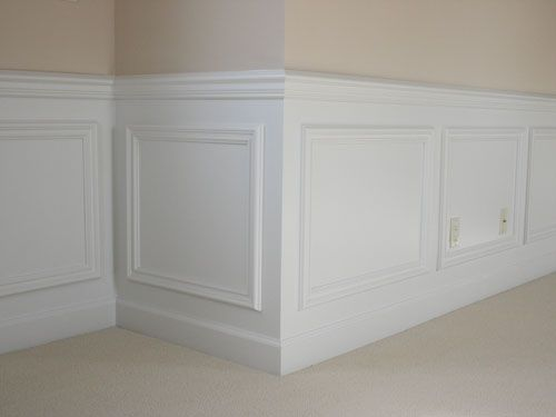 classic panel molding- hallways, bathrooms, and dining room