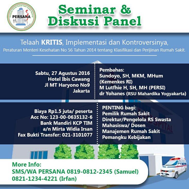Seminar #workshop #kontroversi #pmk56 #klasifikasi #rumahsakit #rs #jakarta #bogor #depok #tangerang #bekasi #indonesia #rsmeilia