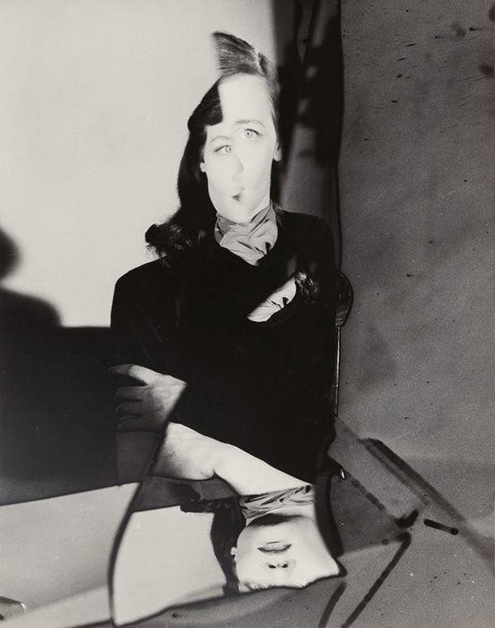 """Erwin Blumenfeld, """"Tedi Thurman, New York,"""" late 1940s."""