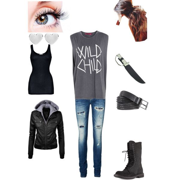 Octavia Blake #the100 by loveandchaos on Polyvore featuring Boohoo, iHeart, Vero Moda, Rick Owens, Dinny Hall and Zadig & Voltaire