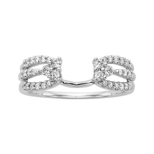 Diamond Engagement Ring Wrap In 14k White Gold