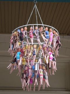 The Mermaid and the Astronaut: Barbie Chandelier?