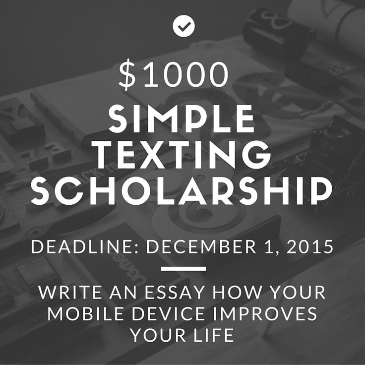 Essay on scholarships
