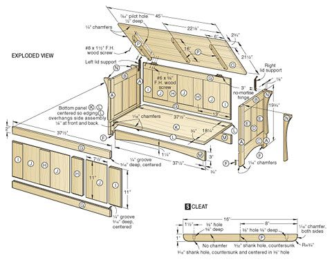 ... on Pinterest | Modern houses, Woodworking plans and Blanket chest