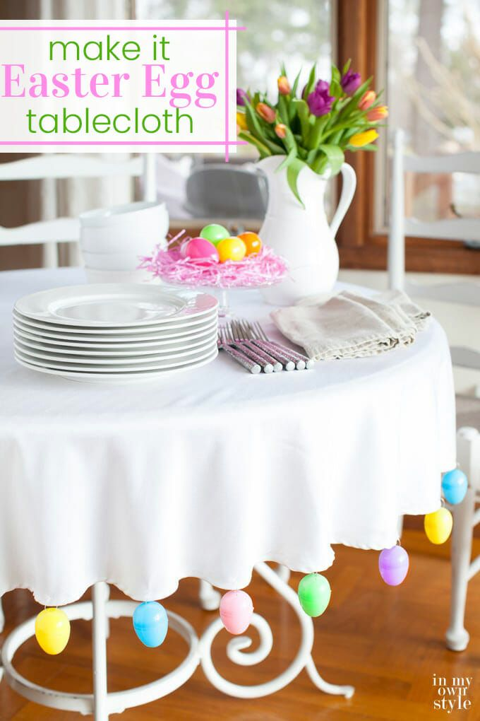Easter Egg Trimmed Tablecloth Easter Table Centerpieces Easter Tablecloth Easter Egg Decorating