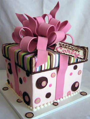 58 best giftbox cakes images on pinterest gift box cakes gift giftbox cake fun via takesthecake negle Images