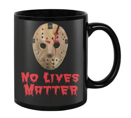 No lives matter - Bloody Jason Mug - Halloween - Friday the 13th Coffee cups - Haunted Horror Funny