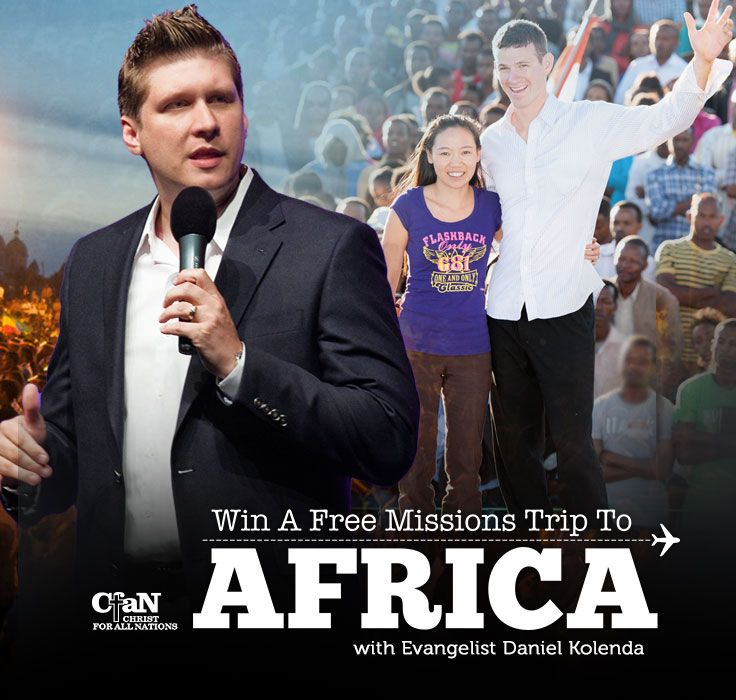 There is still time to enter, and have an opportunity to see millions come to the saving knowledge of Jesus Christ Win a Free Missions Trip to Africa!