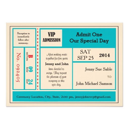 ... 34 Best Invitations Images On Pinterest Invites, Wedding   Blank  Concert Ticket Template ...  Blank Concert Ticket Template