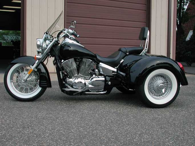 honda shadow with conversion kit honda vtx1300 vtx1800 motor trike conversions honda. Black Bedroom Furniture Sets. Home Design Ideas