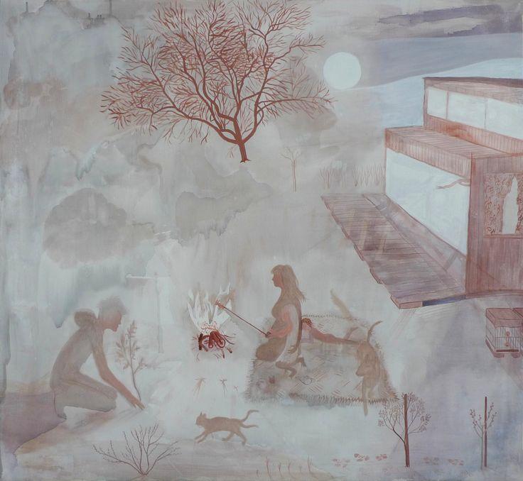 """Dream about Veronika"", acrylics on canvas, 100x120cm, 2015"