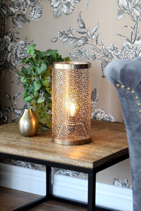 By Rydens Hermine Tischleuchte Gold Metall Messing Orientalisch Marokkanisch Innenleuchte Marokkanische Tischlampe Tischleuchte Orientalische Lampen