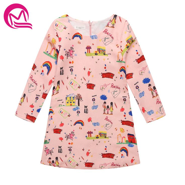 >> Click to Buy << MQ Baby Girl Princess Dress 3-10Years Kids Long Sleeve Autumn Winter Graffiti Dresses for Toddler Girl Children Fashion Clothing #Affiliate