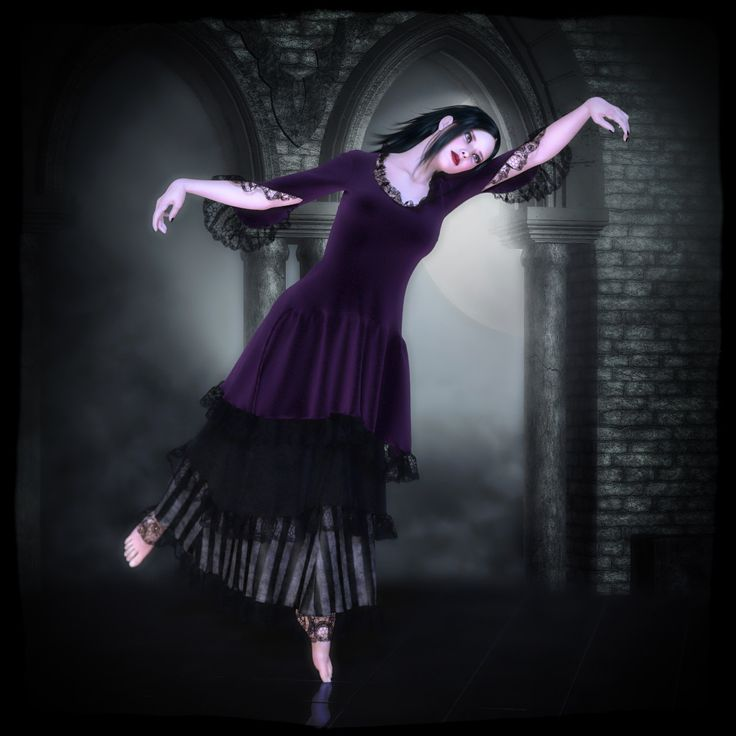 Vintage Layered Dress Dynamic by Frequency // #poser #renderosity #3d #dynamicclothing #dynamiccloth #poserpro #dynamic #frequency3d #frequency #gothic #dance