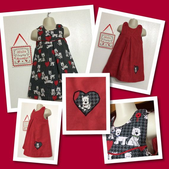 Baby toddler dress pinafore dress Size 2-3 yrs reversible