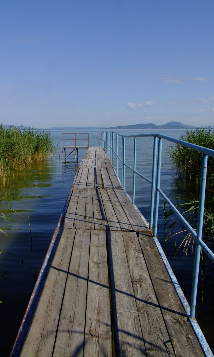 A quay at Lake Balaton, in the Transdanubian region of Hungary