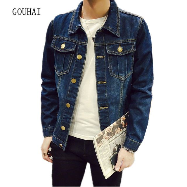 Buy now Solid Men's Jacket 2017 Fashion Autumn Bomber Jacket Men Denim Jacket For Men Bomber Male Coat Plus Size S-5XL High Quality just only $19.94 with free shipping worldwide  #jacketscoatsformen Plese click on picture to see our special price for you