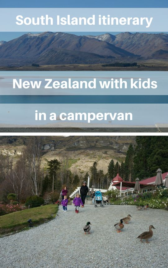 South Island itinerary - New Zealand with kids in a campervan