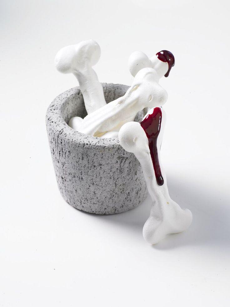 halloween baking meringue bones and coulis blood - Halloween Casserole Recipe Ideas