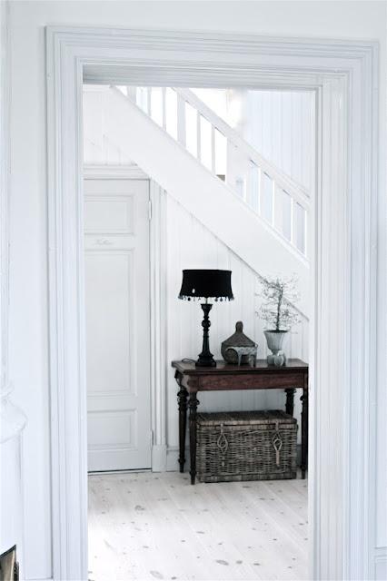 Under trappen, garderob och förvaring