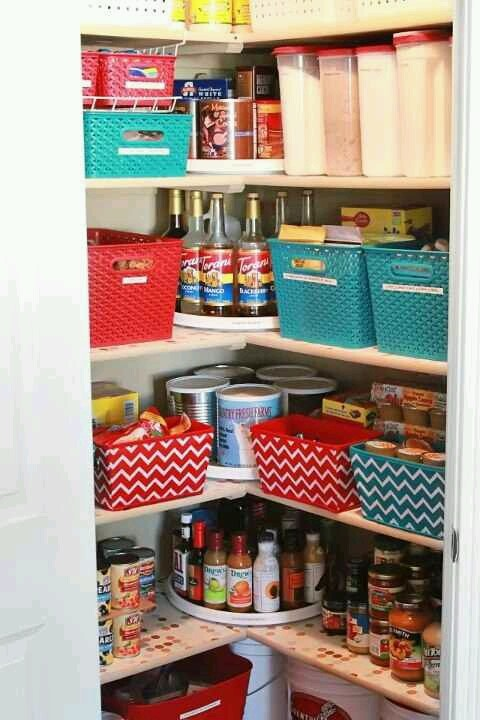 Organized pantry shelves organization pinterest for How to organize your pantry shelves