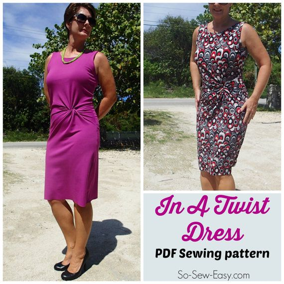 Classy, classic, elegant, refined. Not words you could use to describe every dress, but this twist front dress pattern really does suit those words.