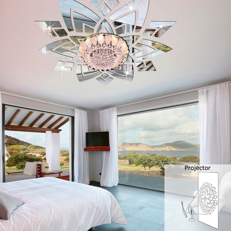 Ceiling Flowers Wall Mirror Stickers