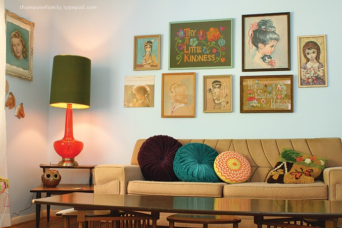 I adore Danielle Thomspon's way with vintage finds. Especially with this portrait and embroidery collection.