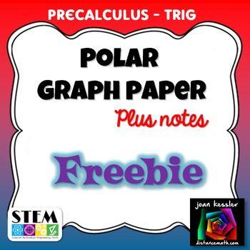 477 best Precalculus images on Pinterest Math classroom - polar graph paper
