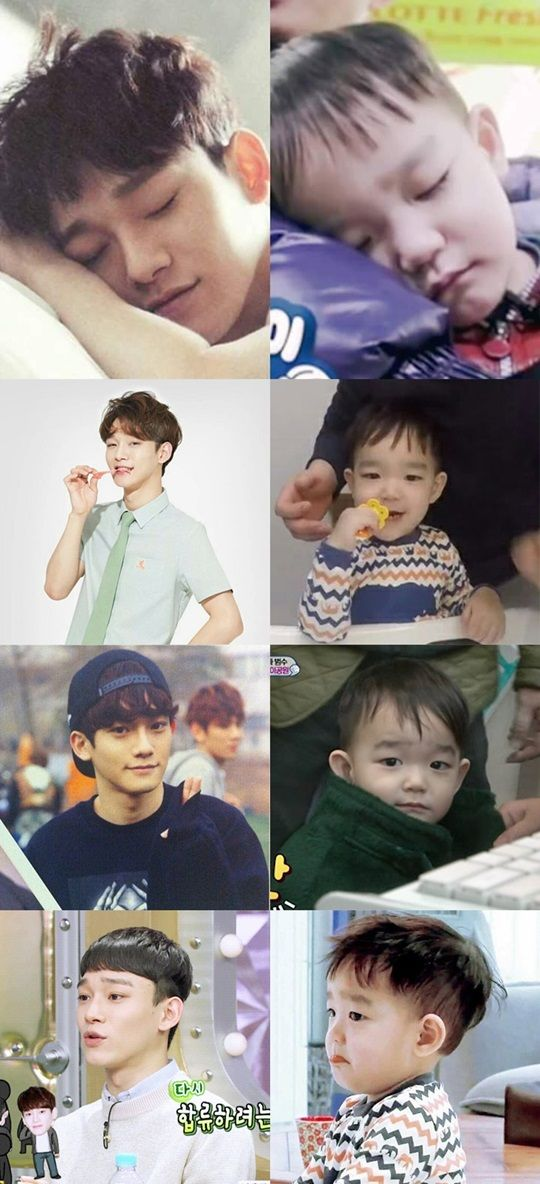 EXO's Chen Finally Meets His Adorable Doppelganger Da Eul | Soompi
